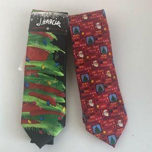 Whimsical Christmas ties! J. Garcia